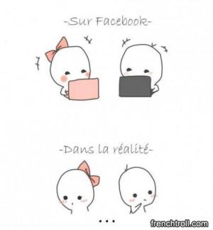 Sur facebook et en r alit troll facebook images droles