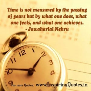 Nehru Quotes on Time – Chacha Nehru Inspirational Quotes
