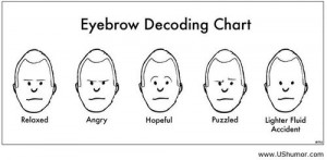 Eyebrow decoding chart US Humor - Funny pictures, Quotes, Pics, Photos ...
