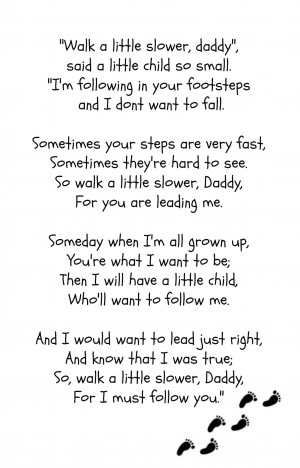 made a 5x7 printable of this poem. One has footprints, one doesn't ...