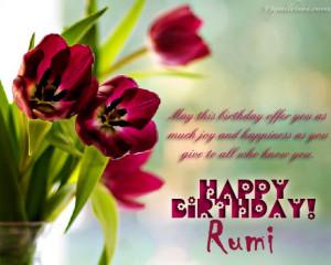 Happy Birthday Rumi|*~ (Page 7)