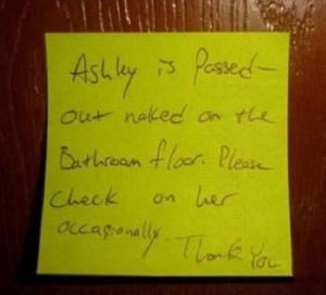 Funny Roommate Note Pictures