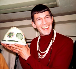Leonard Nimoy with Hobbit House Cake