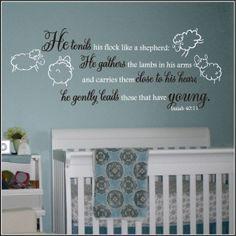 Lamb Theme Nursery Wall Quote | Ecclesiastes, Song of Solomon, Isaiah ...