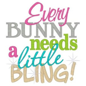 Every bunny need a little bling.