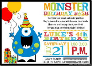Monster Birthday Bash