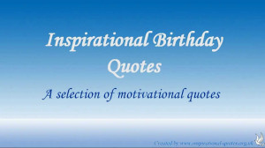 Inspirational Birthday Quotes For Desktop