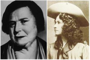 Left: Ma barker (1873 – 1935). Right: Annie Oakley (1860 – 1926 ...