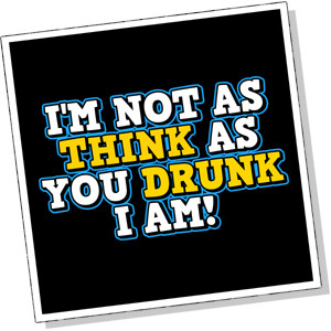 ... Think As You Drunk I Am Beer Drinking Funny Shirt T-shirt TShirt Tee