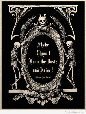 The Undead Arise Gothic Macabre Art Print quote