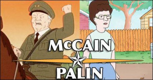 McCain/Palin as Cotton Hill and Peggy Hill from