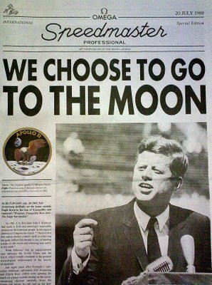 John F Kennedy Choose to go to the Moon