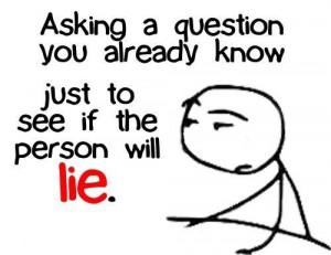 funny liar test question