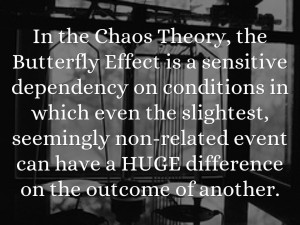 chaos theory butterfly effect theory