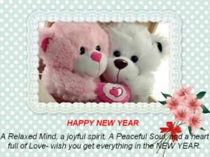 teddy bear happy new year 2015