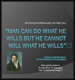 Arthur Schopenhauer on free will