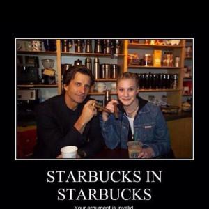 Starbucks in Starbucks... Love Battlestar Galactica from the 80s ...