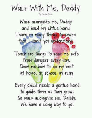 Happy Father's Day 2015 Poems From Baby Footprints