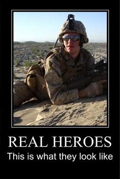 Military hero. God Bless our Military!