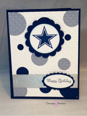 Great for any Dallas Cowboy fan. This birthday card made with Stampin ...