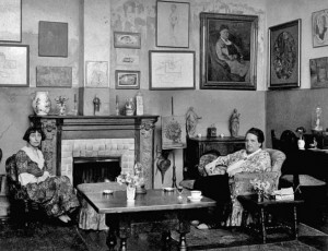 ... galleries >> Old Paris > 1922 - Gertrude Stein with Alice B. Toklas