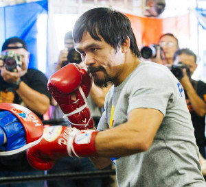 Manny Pacquiao Los Angeles Workout Quotes