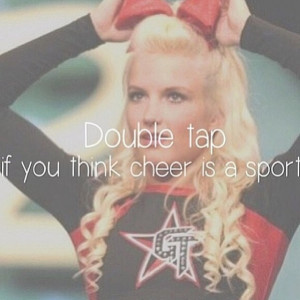 ... Double tap if you think cheer is a sport