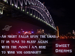 As Night Falls Upon The Land It Is Time to Sleep Again With The Moon I ...