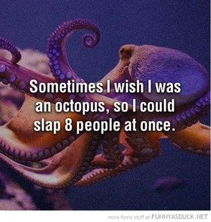 wish octopus slap 8 people at once quote funny pics pictures pic ...
