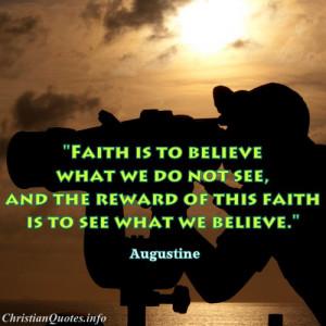 Augustine Quote – Faith