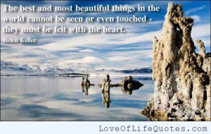 keller quote on beautiful things helen rice quote on a mothers love ...