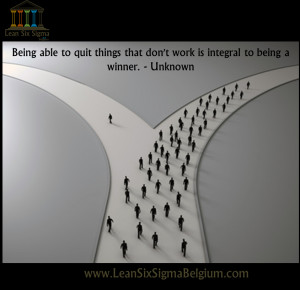 Quote - Being able to quit things that don't work is integral to being ...