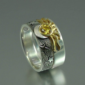 Sun and Moon Eclipse Ring $720.00 , a set that comes in 18K gold and ...