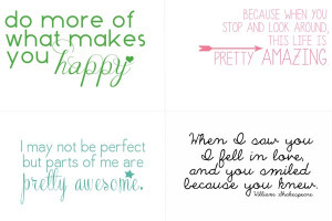 Project Life Freebies - Inspired Quotes