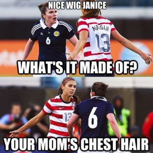 Soccer players love to quote mean girls