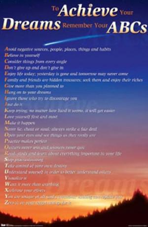 achieving your dreams inspiring quotes quotesgram