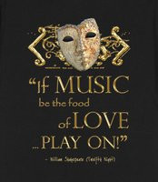 Shakespeare's Twelfth Night Music Quote (gold Version) - These stylish ...