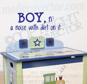 about BOY N: NOISE WITH DIRT Quote Vinyl Wall Decal Nursery Boy ...