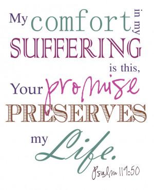 Bible Verses Psalm 119:50 My Comfort Scripture Picture