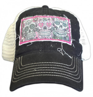 Three Sugar Skulls Cap