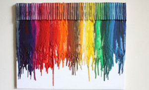 How To Make Melted Crayon Art Without Crayons On Canvas