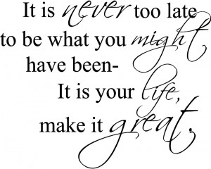 It's never too late to turn the tide!