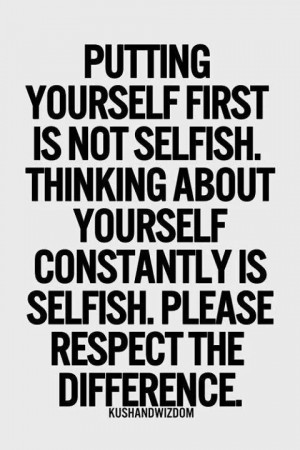 selfish or not//