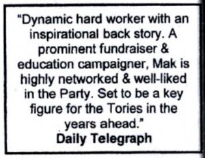 Alan Mak Telegraph quote