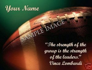 ... Super Bowl theme, I found this Vince Lombardi quote on my hotel key
