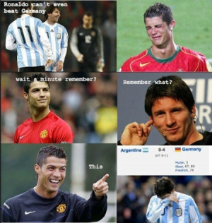 FUNNY RONALDO AND MESSI PICTURES