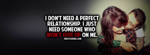 Wont Give Up On Me Profile Facebook Covers