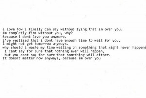 Over You Quotes Tumblr