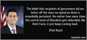 belief that recipients of government aid are better off the more we ...