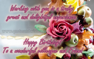 Happy Birthday wishes for colleagues, office mates,boss and co workers ...
